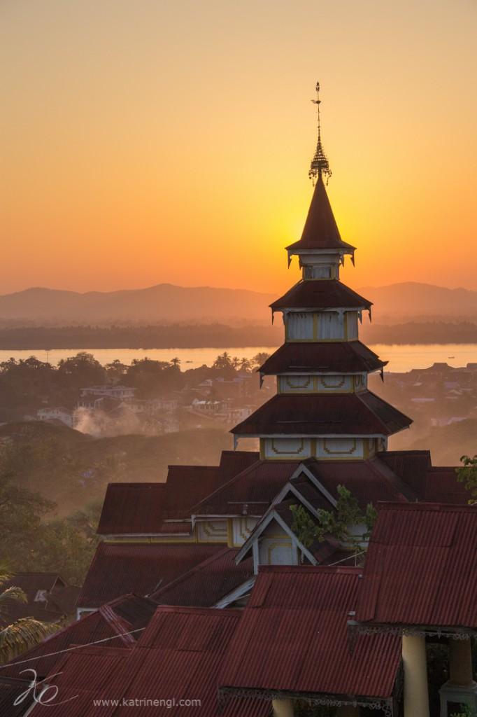 Kyaik Thanlan Pagoda in Mawlamyaing