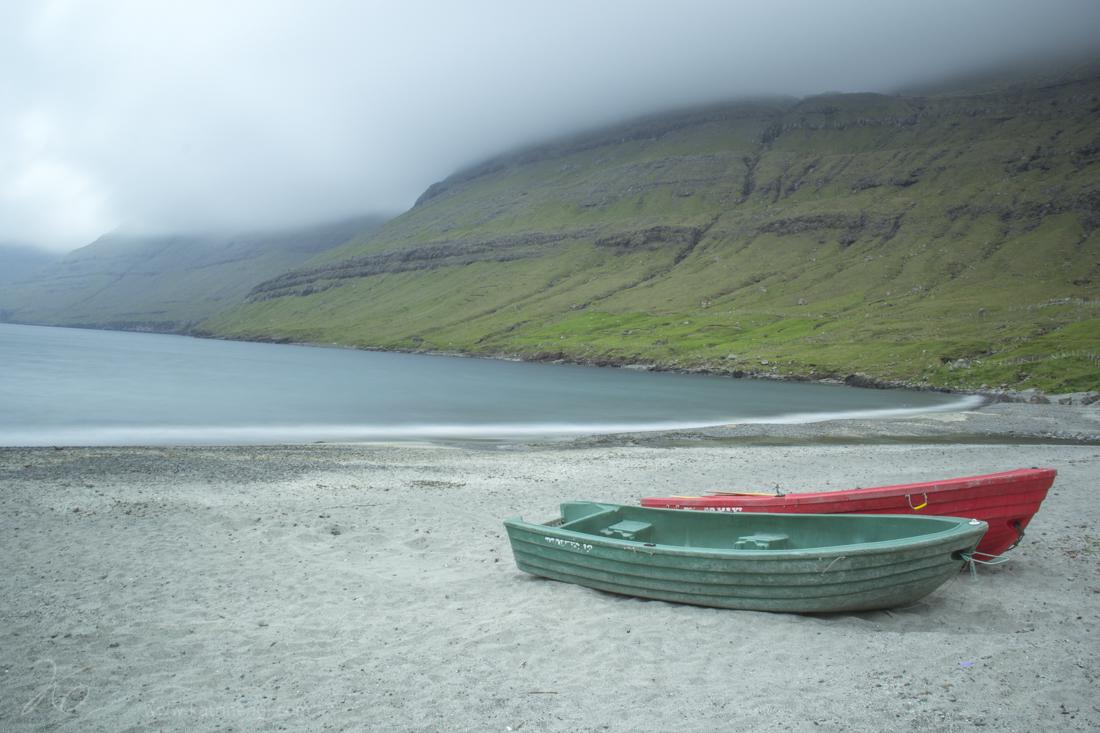 Beach on the island of Esturoy