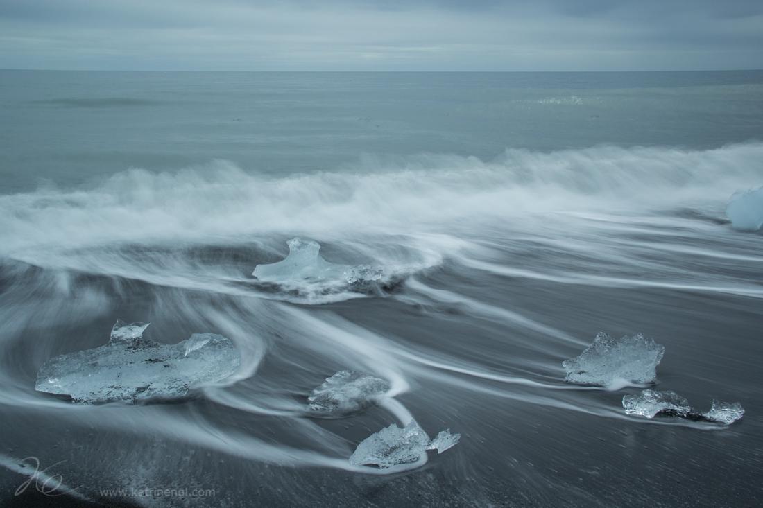 Long-term exposed ice on the beach
