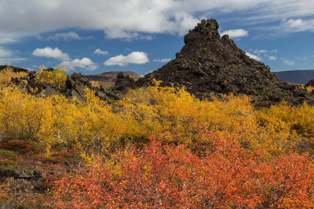Colorful Dimmuborgir in Myvatn Iceland
